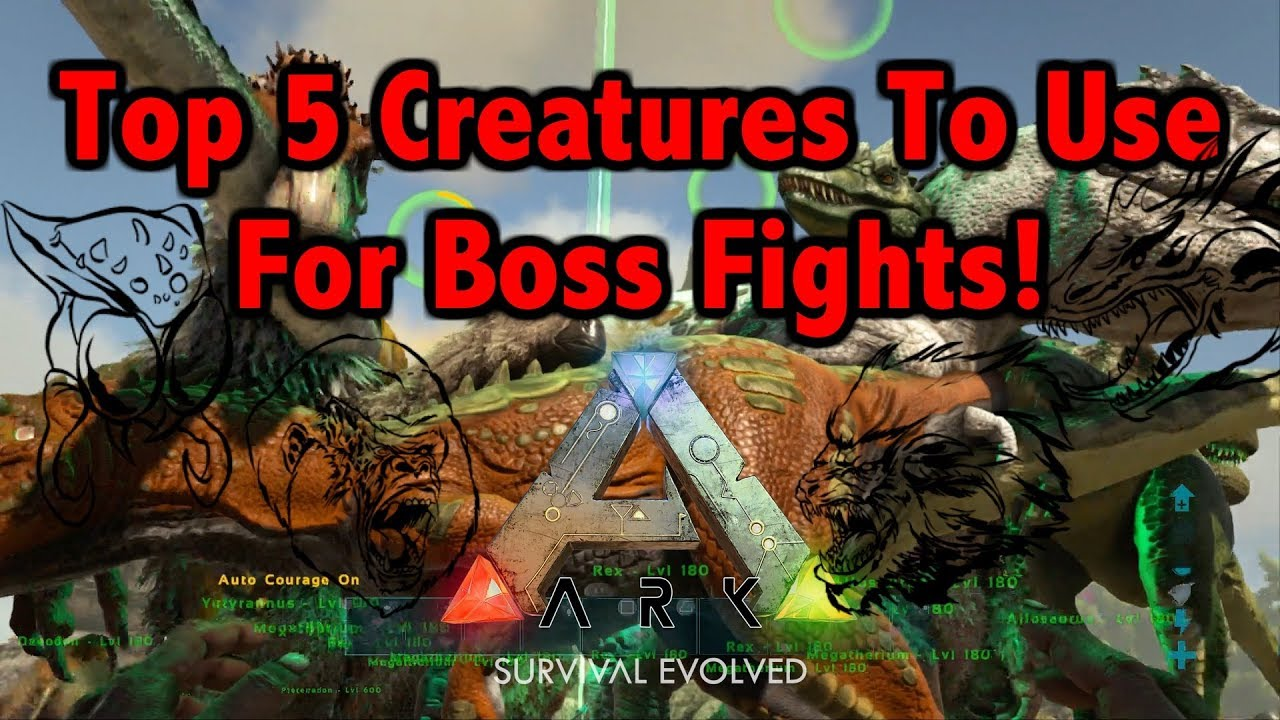 Top 5 Boss Creatures To Use In Ark Survival Evolved Youtube I bred a good hp and melee rex and gave them saddles ranging from. top 5 boss creatures to use in ark survival evolved