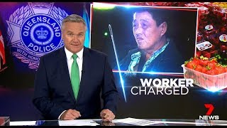 Nine + Seven News. Asian Strawberry Needle Ozzie Attack.(Slave Labour?)