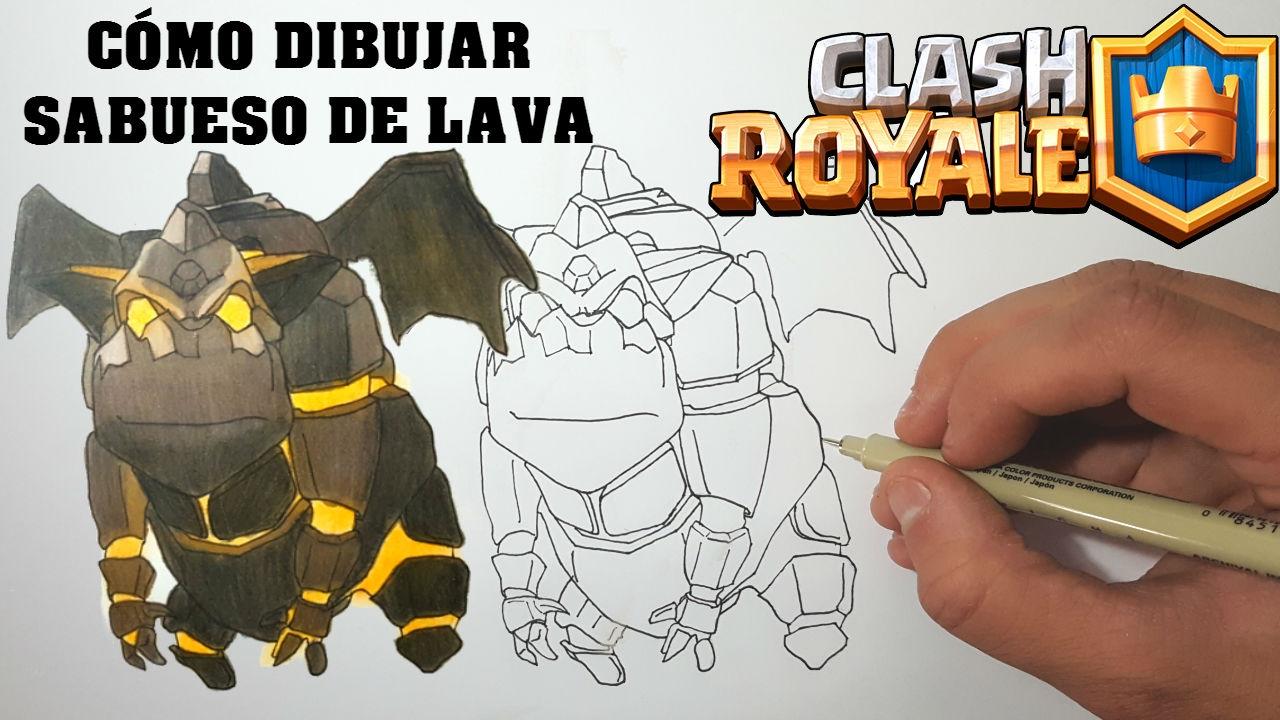Dibujos Para Dibujar De Clash Royale: Cómo Dibujar SABUESO DE LAVA De CLASH ROYALE- MagicBocetos