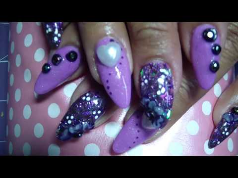 Almond Shaped Acrylic Nails Using Nail Forms Tutorial! Start to Finish!