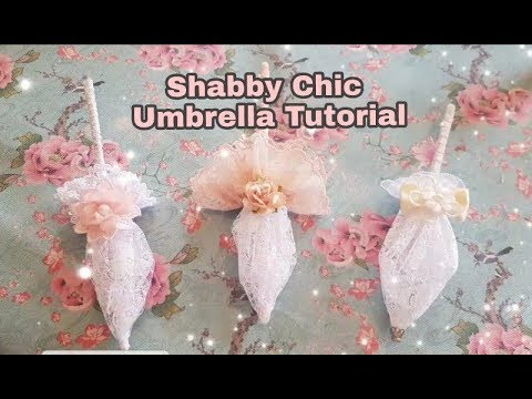 Shab Chic Decorative Umbrella Tutorial