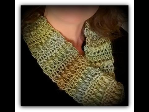 Wonderland Garden Infinity Scarf Free Crochet Pattern Youtube