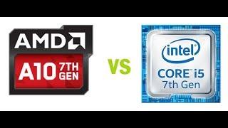 aMD A10 9600P VS INTEL i5 7200U RENDIMIENTO DE CPU PROCESADOR