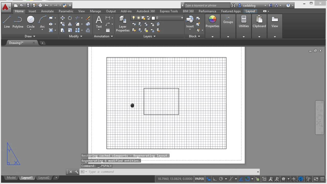 Papercraft Autodesk AutoCAD 2015 Tutorial | An Introduction To Model And Paper Space