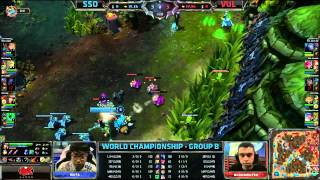 SSO vs VUL | Samsung Galaxy Ozone vs Vulcun | Worlds 2013 Group Stage D1 | Full game HD