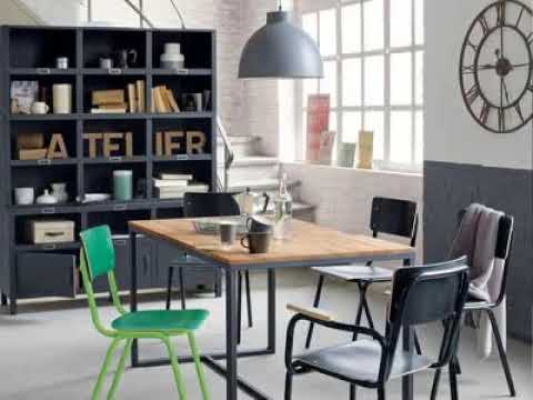 decoration industrielle chic youtube. Black Bedroom Furniture Sets. Home Design Ideas