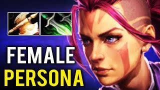 NEW PERSONA FEMALE Anti Mage First 9k Pro Gameplay Halberd Build 7.27a Godlike Dota 2