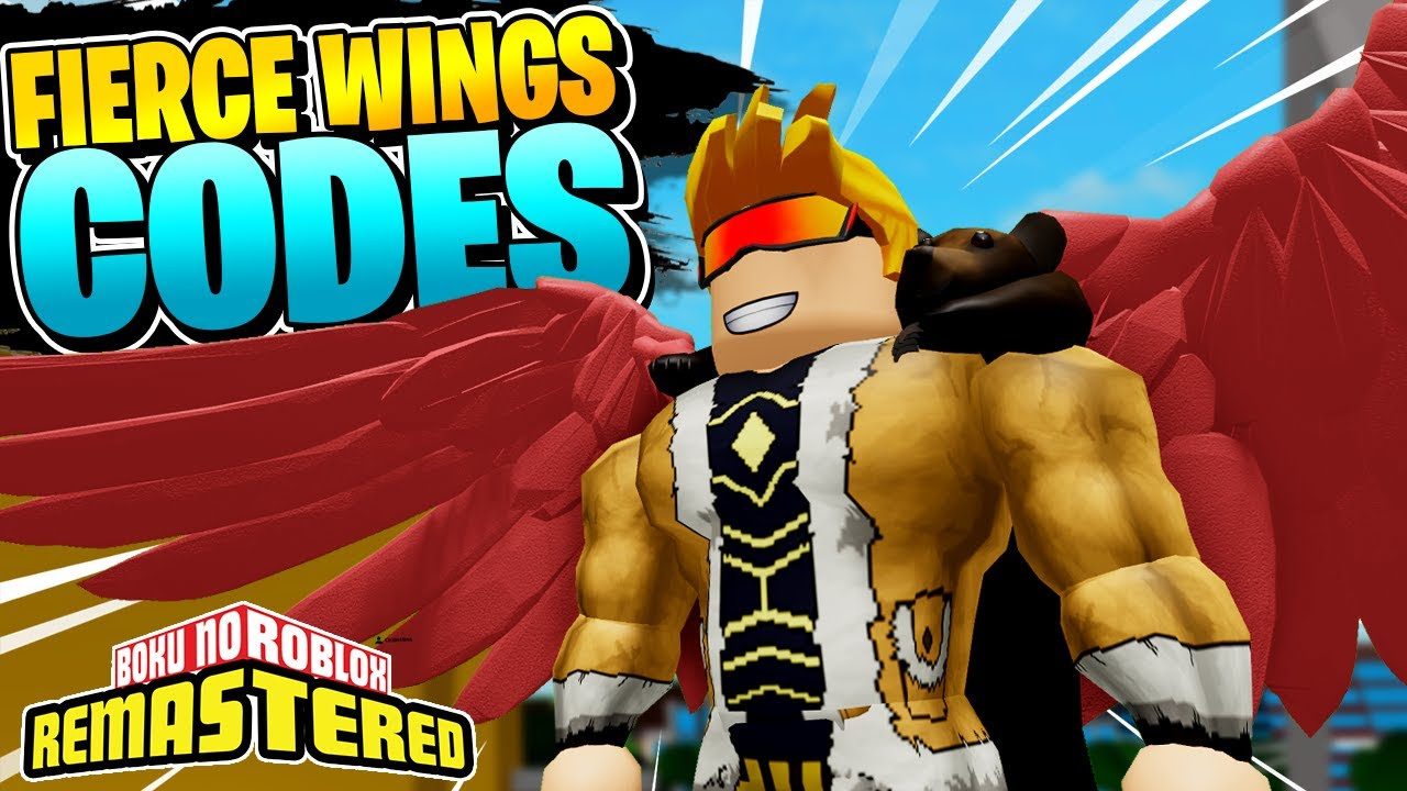 Boku No Roblox Remastered 5 New Fierce Wings Codes June 2020 Code Youtube
