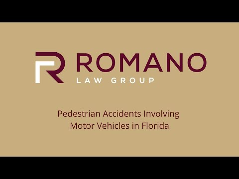 Pedestrian Accidents Involving Motor Vehicles in Florida