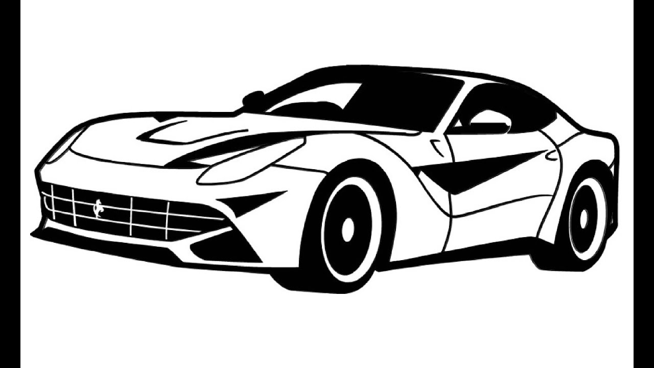 how to draw a ferrari ferrari youtube. Cars Review. Best American Auto & Cars Review