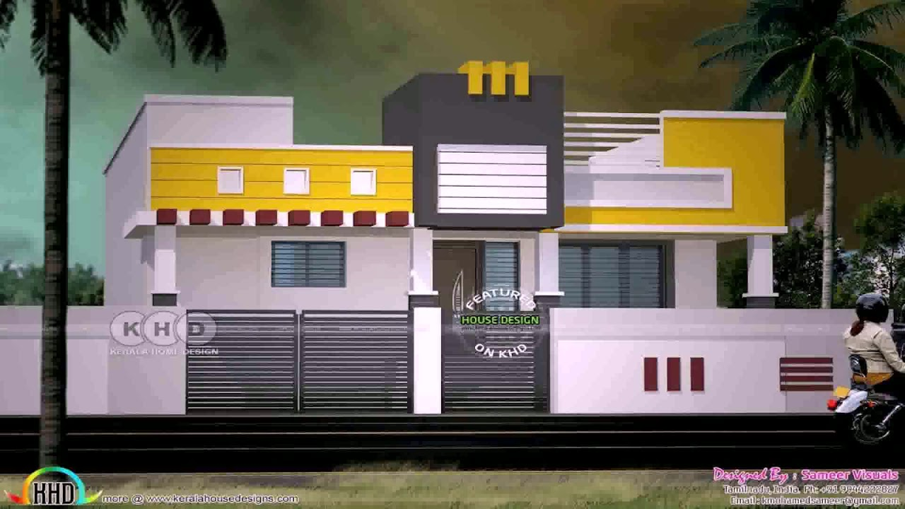 Single Floor House Front Elevation Design In India