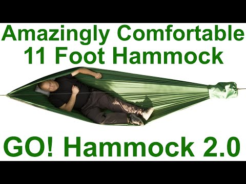 GO HAMMOCK-Green AMAZINGLY COMFORTABLE 11 FOOT HAMMOCK Nylon