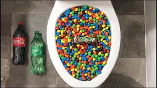 Will it Flush? - Coca Cola, Sprite, Milky Way and M&M's Candy