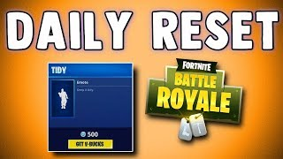 FORTNITE DAILY SKIN RESET - NEW TIDY EMOTE!! Fortnite Battle Royale NEW Items in Item Shop