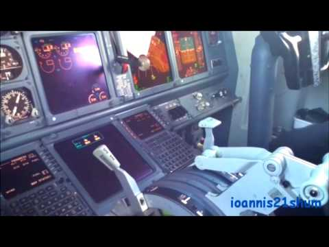 Ryanair Boeing 737-800 cockpit (captain's view) | First Officer interview