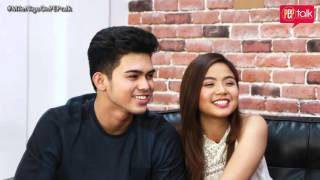 Miles Ocampo and Inigo Pascual on PEP TALK. Miles shows her singing talent