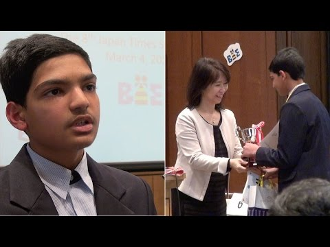 Interview with Shantanu Edgaonkar, winner of the eighth Japan Times Bee