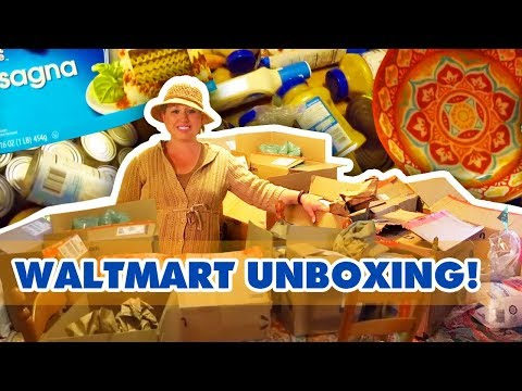 Walmart Household and Pantry Delivery Unboxing