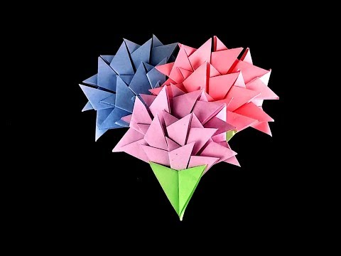 How to make a Paper Carnations - DIY origami carnation flower