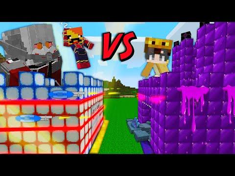 히어로 성 VS 몬스터 성 [ 빌드 배틀 ] Hero Castle vs Monster Castle in minecraft