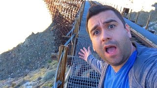 Abandoned Trains/ Tunnels & a Giant Train Trestle!!