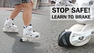 How to stop with Powerslide inline skates HABS brake - Rolling Reviews
