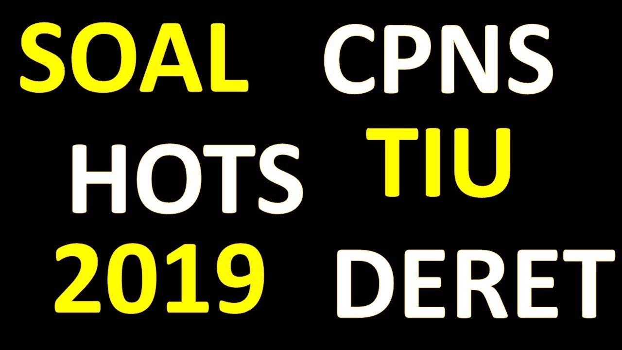 Soal Cpns Hots Tiu 2019 Deret