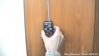 видео Детектор жучков BugHunter MN-01 Mini