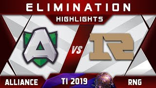 Alliance vs RNG TI9 Elimination The International 2019 Highlights Dota 2