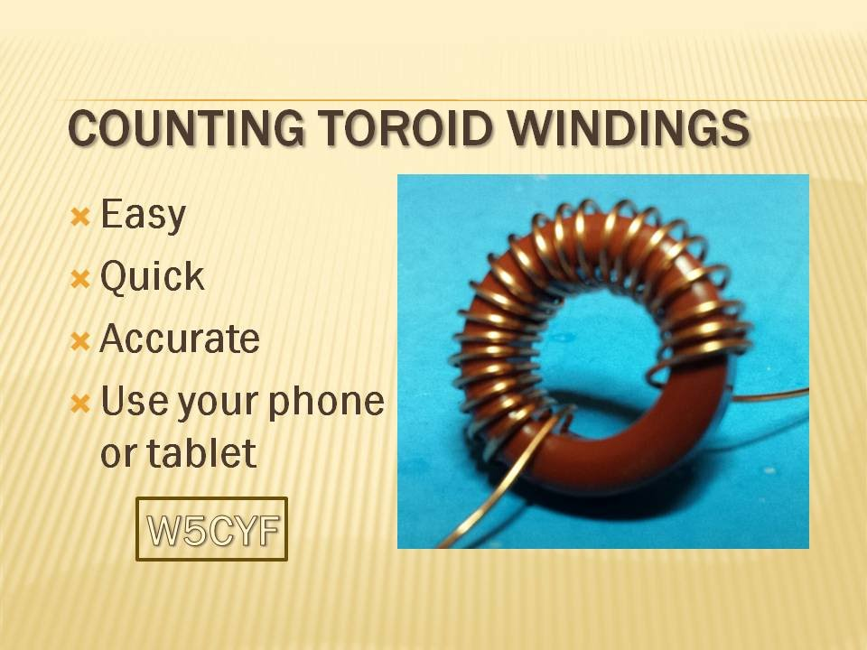 Quick Tip - Easy Way to Count Toroid Turns/Windings