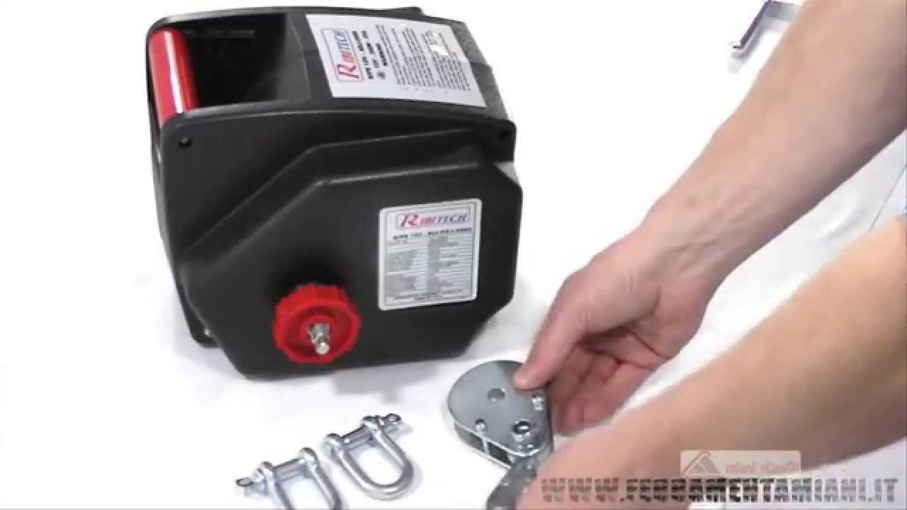 Verricello Elettrico Telecomandato Ribimex Capacita 907 Kg Mod