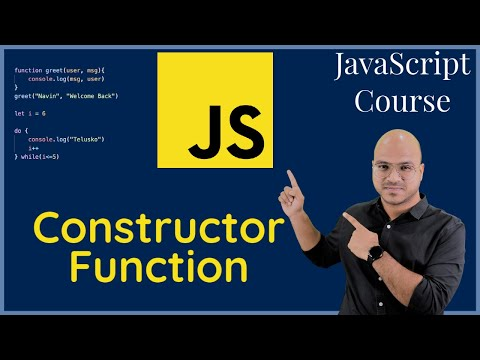 Creating Object using Constructor Function in Javascript