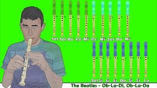 The Beatles - Ob-La-Di, Ob-La-Da en Flauta Dulce con Notas