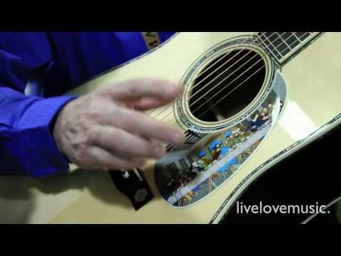 Download Youtube: 1.5 Millionth Martin Acoustic Guitar: Leonardo Da Vinci Mona Lisa Special Edition (NAMM 2011)