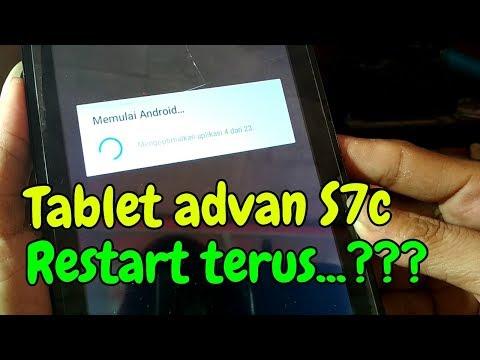 Tablet Advan Vandroid S7c error restart terus.Part II