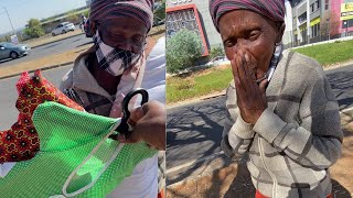 Grandma Selling Covers at Traffic Stop  Working Hard For Her Money