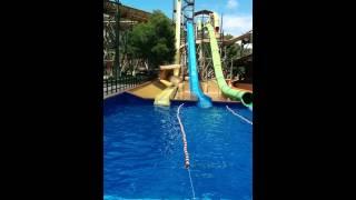 100ft drop water slide in Majorca
