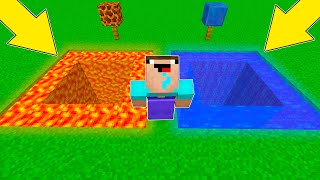 Minecraft Battle - NOOB vs PRO : LAVA VS WATER ! WHICH PIT WILL NOOB CHOOSE ? (Animation)