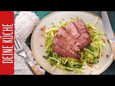 Filet Mignon mit Wirsingsalat | REWE Deine Küche