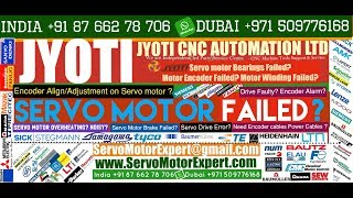 Jyoti Machine Repair, Heidenhain motor encoder Adjustment,Servo Motor fault codes,Drive Parameter