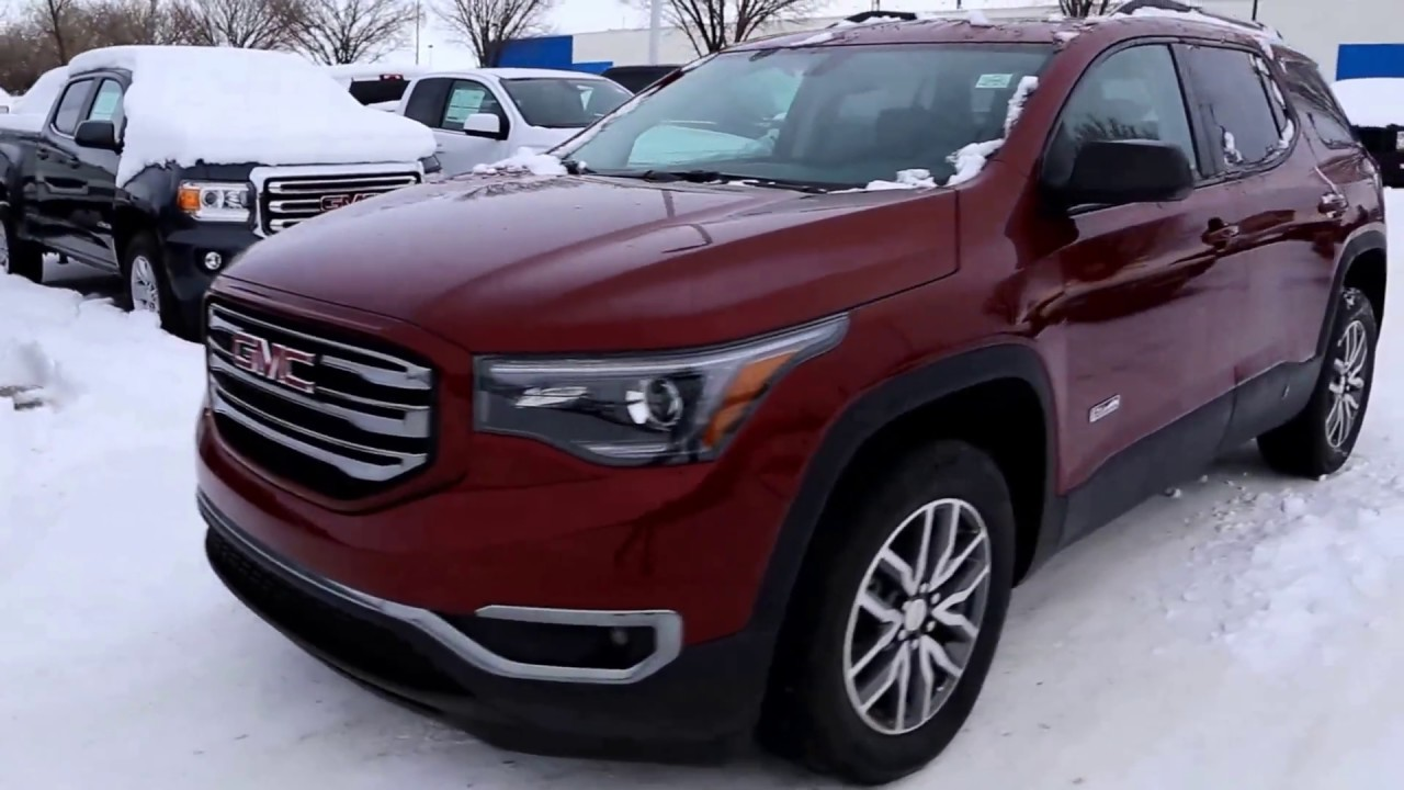 crimson red tintcoat 2017 gmc acadia sle 2 all terrain for sale in medicine hat ab youtube. Black Bedroom Furniture Sets. Home Design Ideas