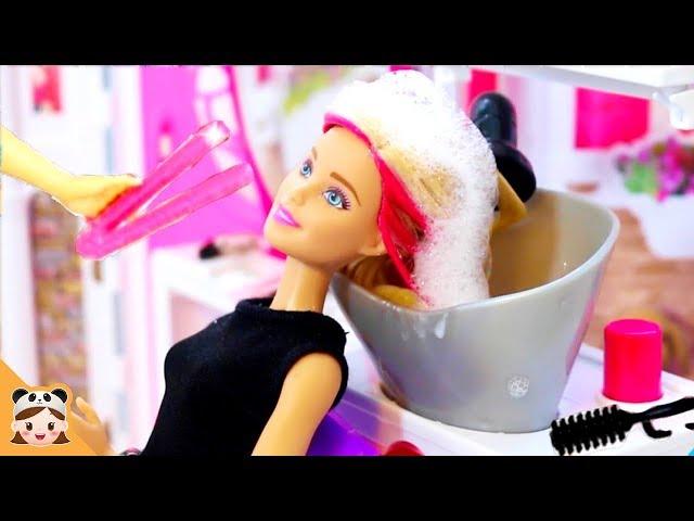 ?? ???? ??? ?? ??? ?? ???? ?? ! ?? ??? ?? ?? ???? ??? Barbie Doll Hair shop Routine | ???TV