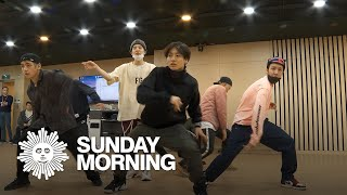 BTS rehearses choreography of quotBoy With Luvquot