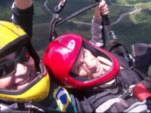 Paraglider voo duplo - Adezilio e seu pai Jorge An...