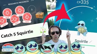 SHINY SQUIRTLE WITH SUNGLASSES!! HOW to GET IT! RESEARCH TASKS - Pokemon Go Community Day
