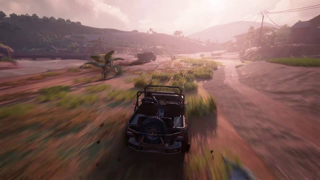 Uncharted 4 Car Chase Scene Youtube
