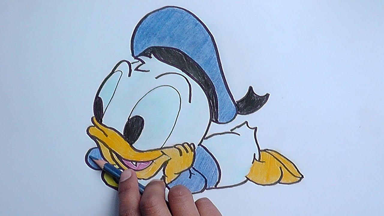 Dibujando y pintando Pato Donald Beb Mickey Mouse