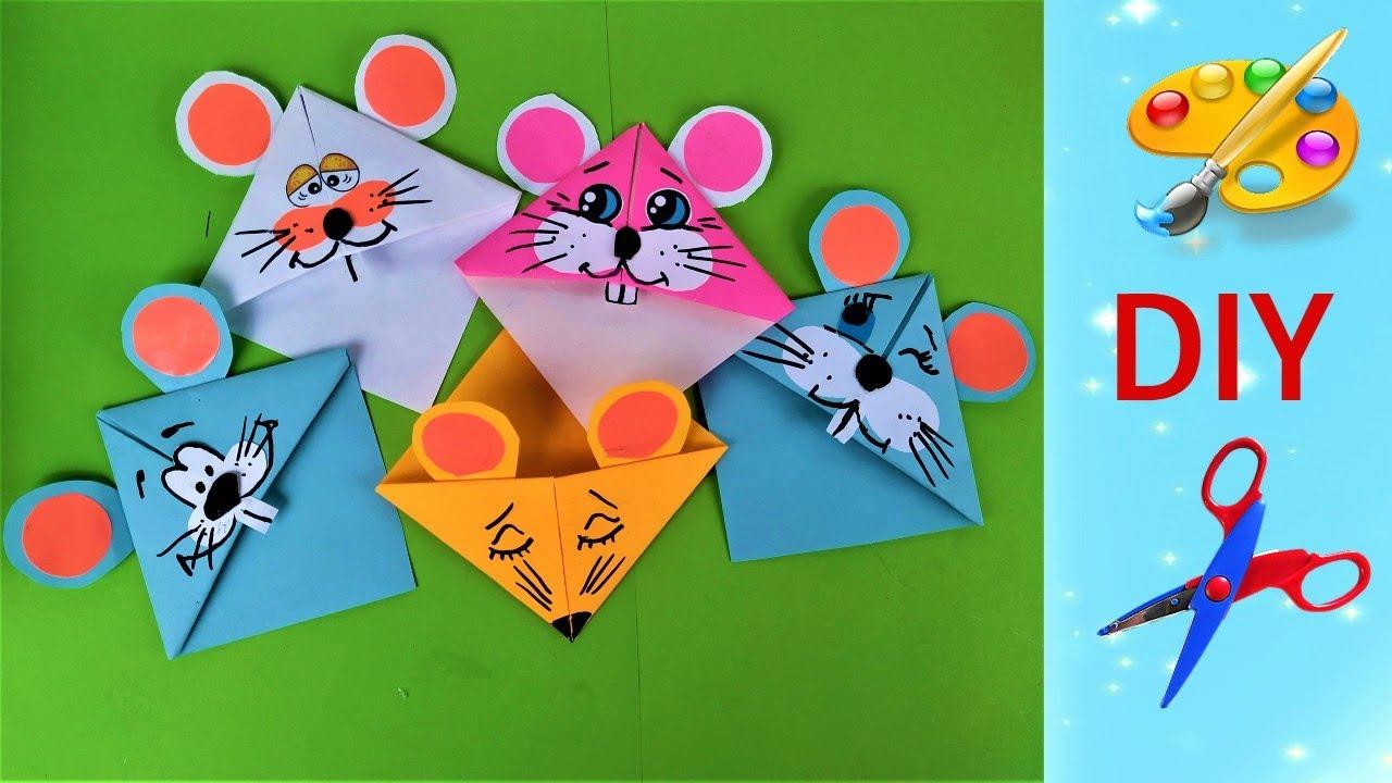 2 простых идеи мышки закладки, символ 2020, своими руками