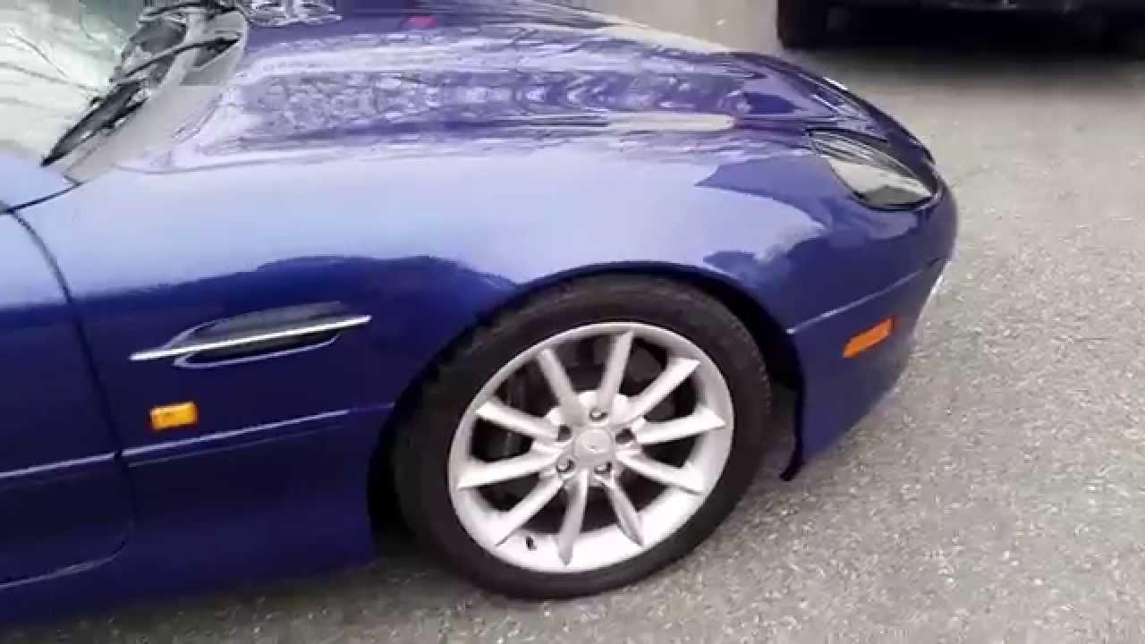 2002 aston martin db7 vantage v12 6spd sport exhaust - youtube