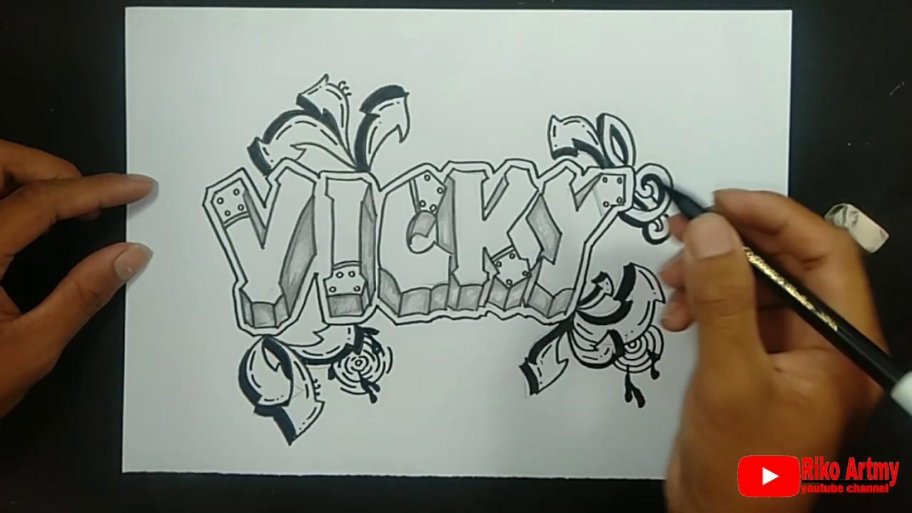 Request Grafiti Nama Vicky Youtube